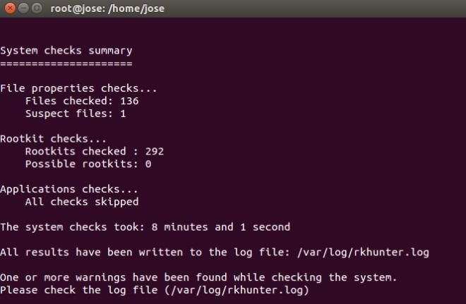 Informe de RootKit Hunter en Ubuntu