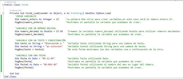 variables y tipos visual basic