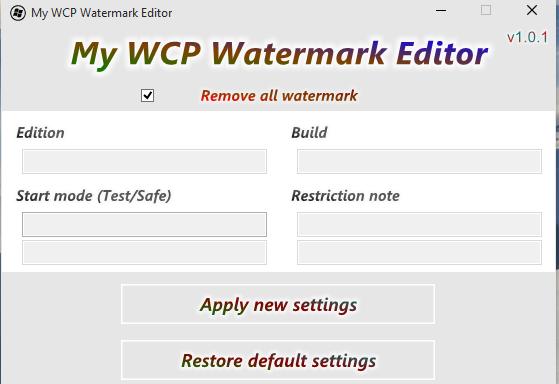 eliminar watermark windows
