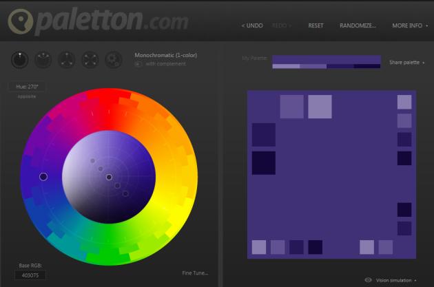 paleta de colores online