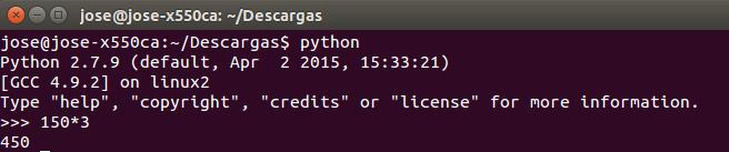 python calculadora linux terminal