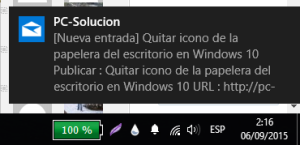 notificacion correo windows 10