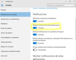 notificacion correo windows10
